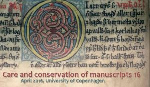 Care and conservation of manuscripts CC16.